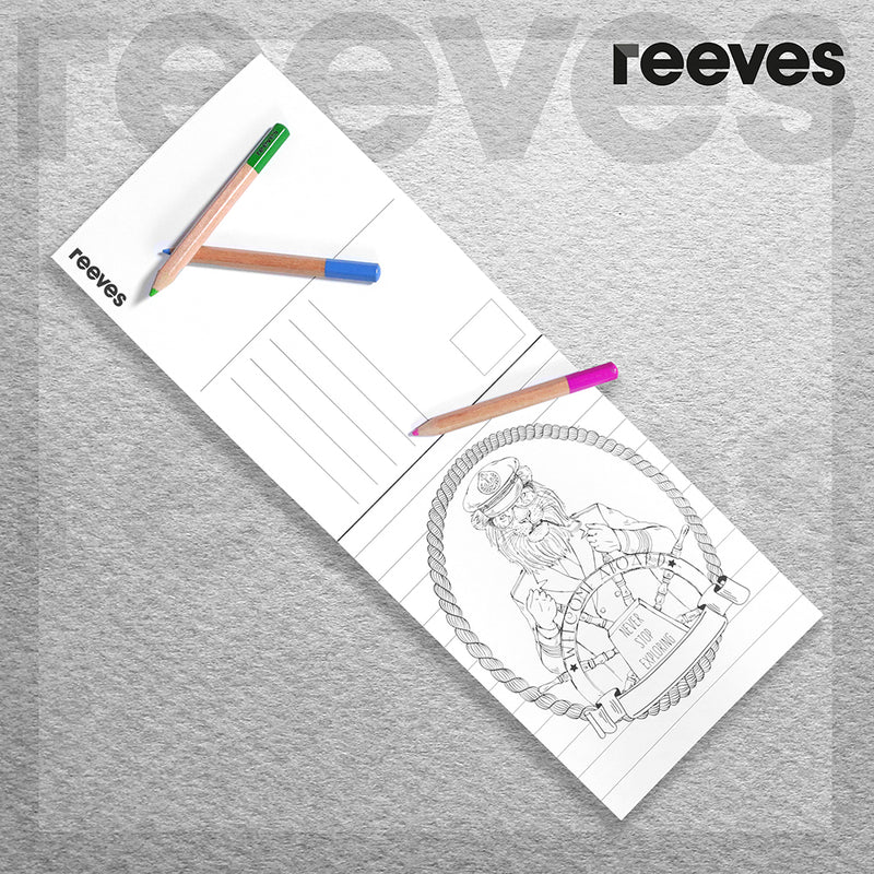 Reeves Colouring Postcards - Urban Jungle