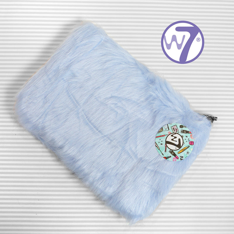 Large Furry Make Up Bag - Various Colours by W7, sold by In-Excess