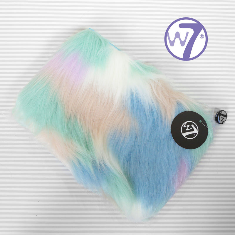 W7 Large Furry Make Up Bag - Various Colours