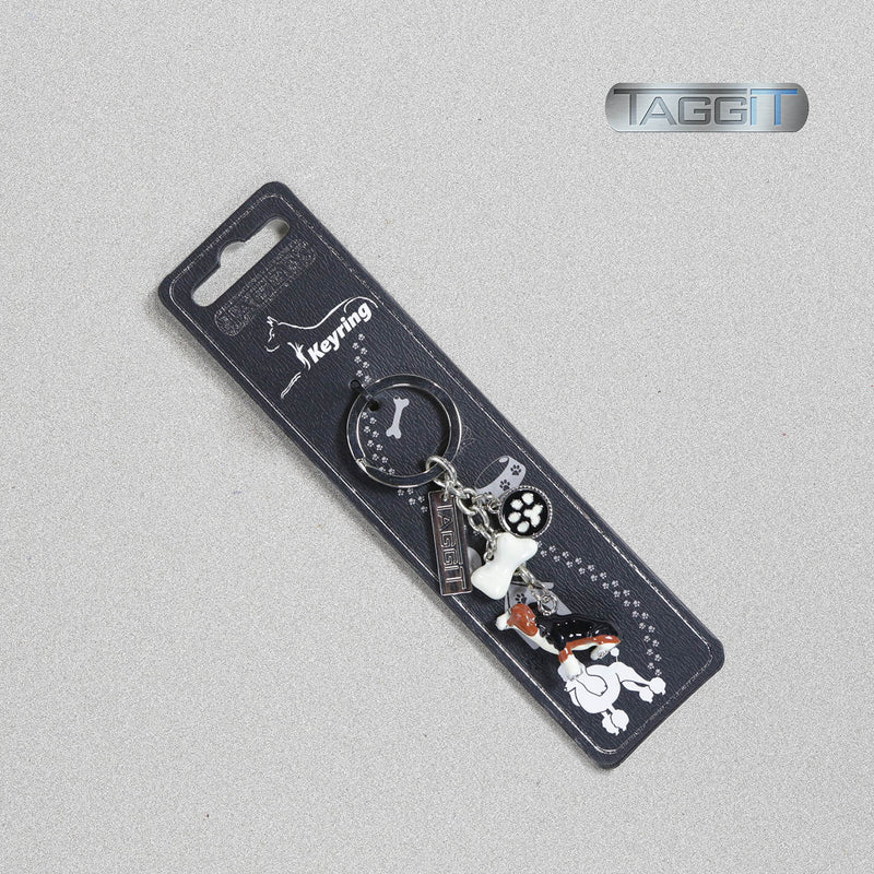 Enamel Dog Breed Keyring by Taggit, sold by In-Excess