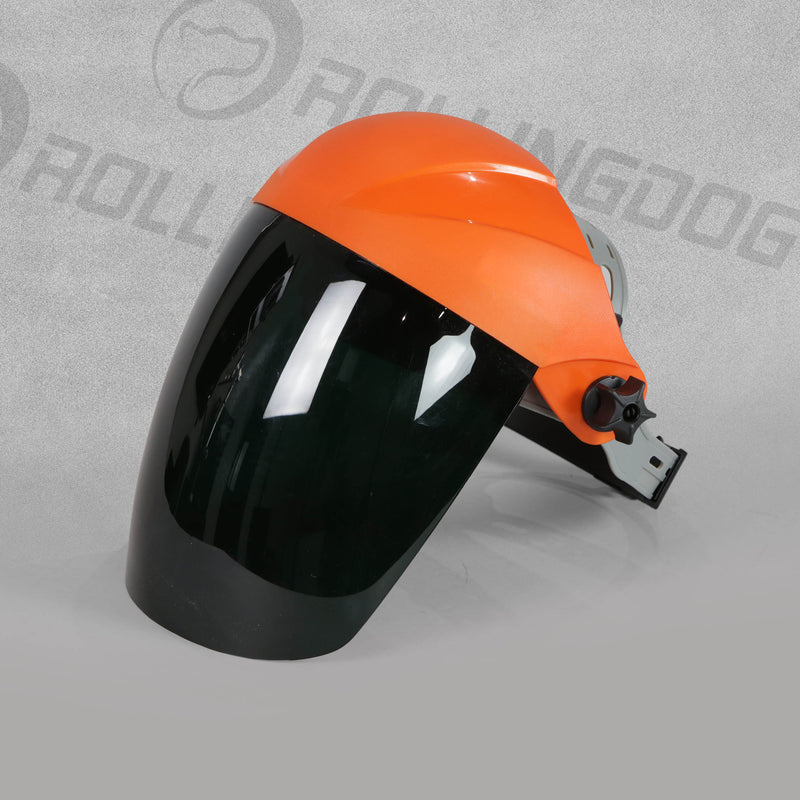 Welding Face Shield - Orange by Rollingdog, sold by In-Excess