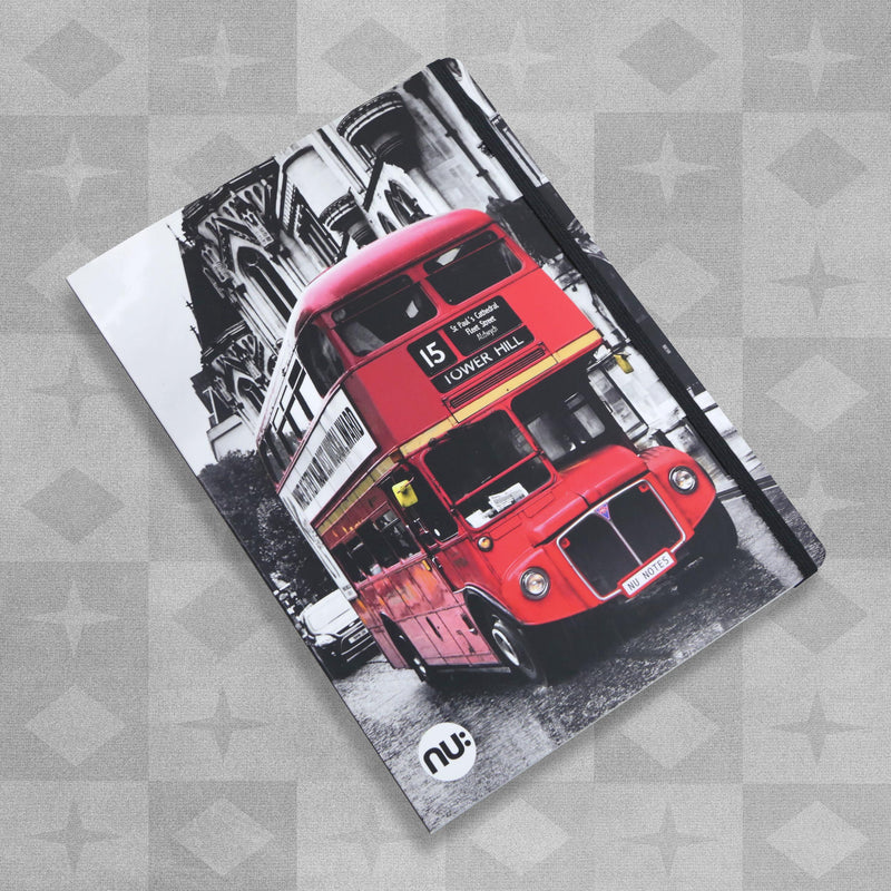 Nu: Craze Photographic B5 Casebound Notepad - London Bus