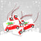 8 x Christmas Gift Tags - Christmas Car Scene