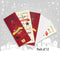 Pack of 12 Christmas Portrait Cards - Text & Tree Design sold by In-Excess
