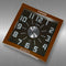 Twins Quartz Wall Clock - black glass giant numerals