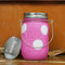 LED sparkle light jam jar - vintage polka dots - assorted colours