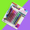 Arty Crafty Set of 8  Coloured Glitter Glue Pens for crafting
