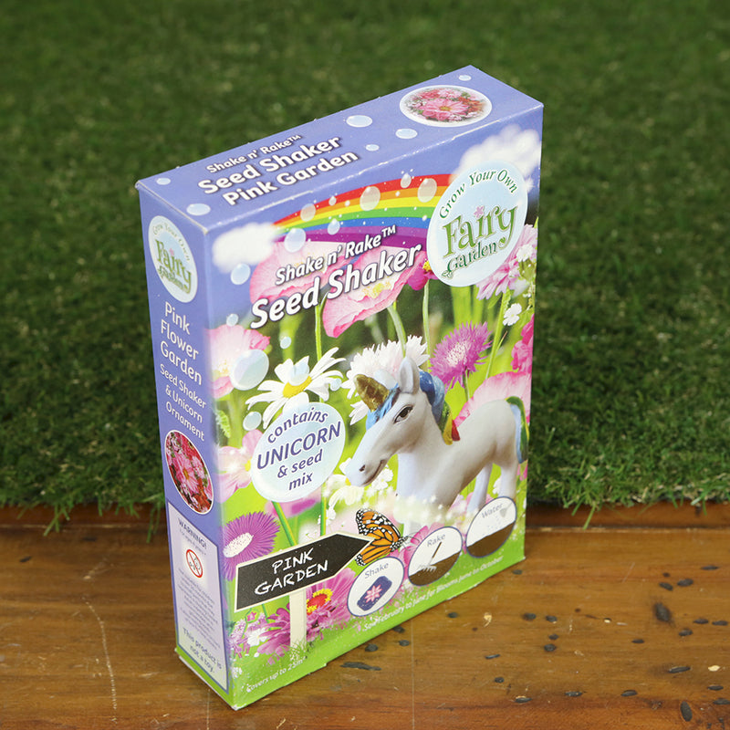 Grow Your Own Fairy Garden Seed Shaker - Unicorn Pink Garden