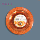 Mozaik Outdoor Picnic Party Plates - Pack of  4 - 19cm Round - Fancy Edged - Orange