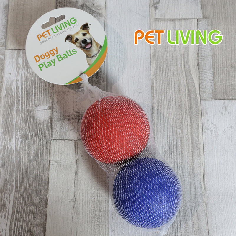 Pet Living Rubber Balls - Pack of 2