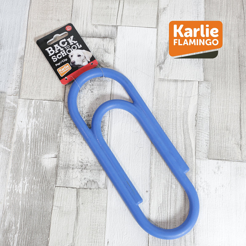 Karlie Flamingo Back to School Paperclip Dog Toy