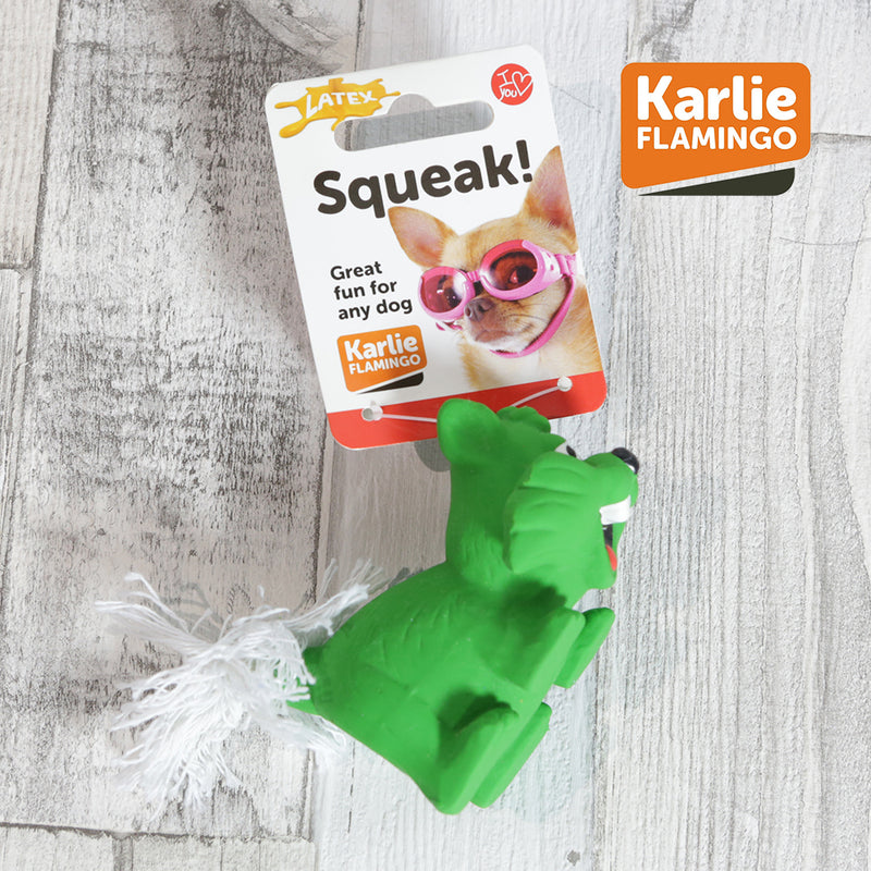 Karlie Flamingo Litt'l' Loves Squeak! - Green Chipmunk