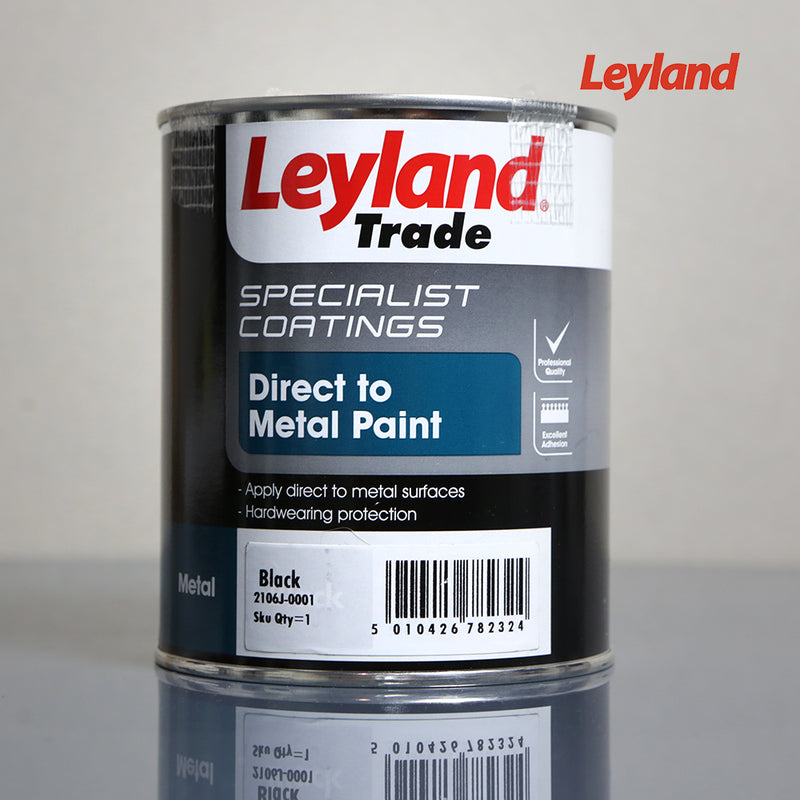 Leyland Trade Specialist Coatings Direct to Metal Paint 750ml - Black