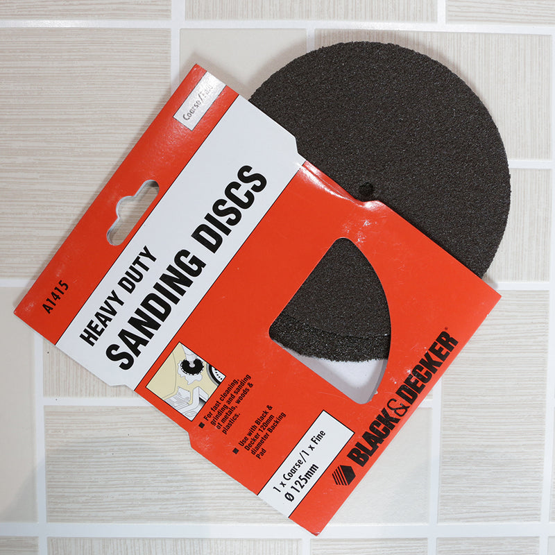 Black and Decker Heavy Duty Sanding Discs - 2 Pack