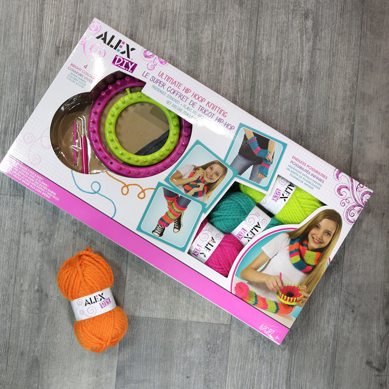 Alex DIY Ultimate Hip Hoop Knitting craft kit
