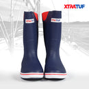 "XTRATUF Men's Navy/Red 12"" Rubber Deck Boot"