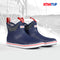 XTRATUF Men's Navy/Red Ankle Deck Boot