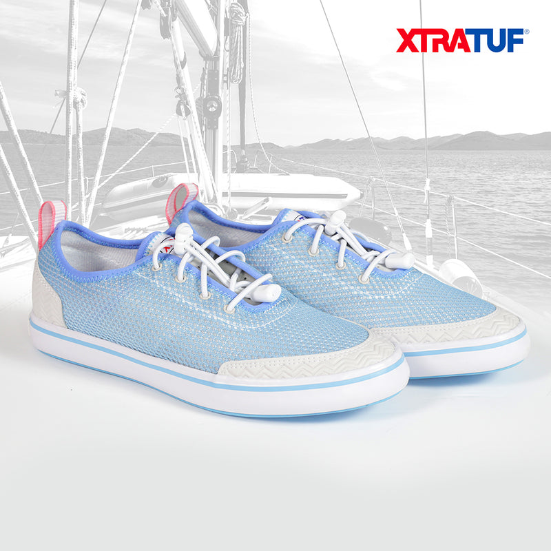 XTRATUF Women's Riptide Blue/White Water Shoes