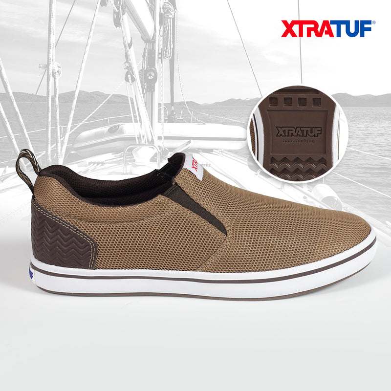 XTRATUF Men's Sharkbyte Airmesh Brown Shoes