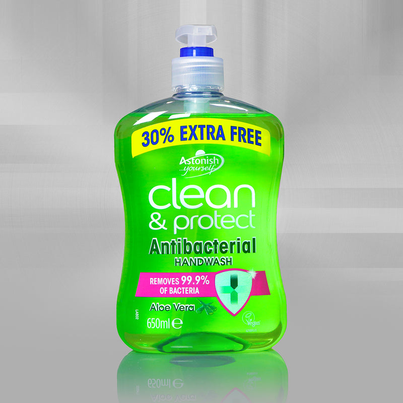 Astonish - Clean & Protect Antibacterial Handwash with Aloe Vera 650ml
