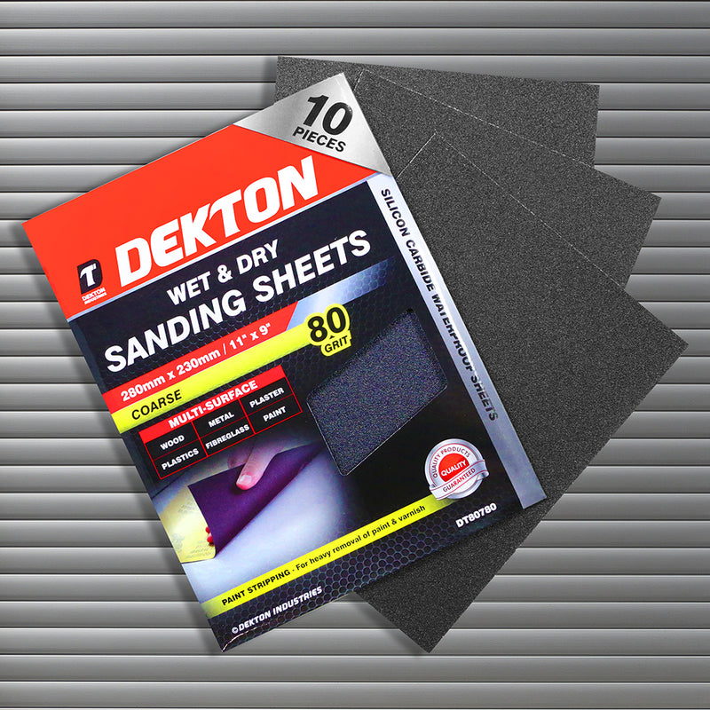 Wet & Dry Sanding Sheets 10 Pieces by Dekton, sold by In-Excess