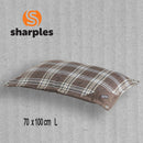 Sharples Brown Tartan Pet Bed - 70 x 100cm
