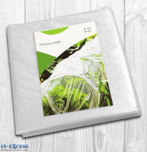 Polythene Sheet cover 6 x 2 Meter - Greenhouse, Dust Sheet, Cloche, Protective Cover