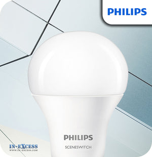 Philips SceneSwitch LED Bulb 9.5W (60W) A60 B22 Frosted - 2 Colour Settings