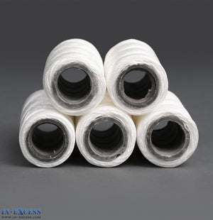 Qty 15 (3x5) Nylon Twine Upholstery Craft Buttoning Multi-purpose String White