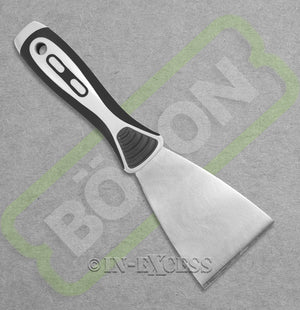 "Photo of Boron Professional Tools Flat Drywall Filling Spatula - 3"" (76mm) Back"