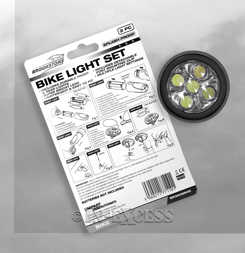Photo of Brookstone Bike Light Set back