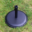 Round Polycrete Outdoor Parasol Base, 16Kg - Black
