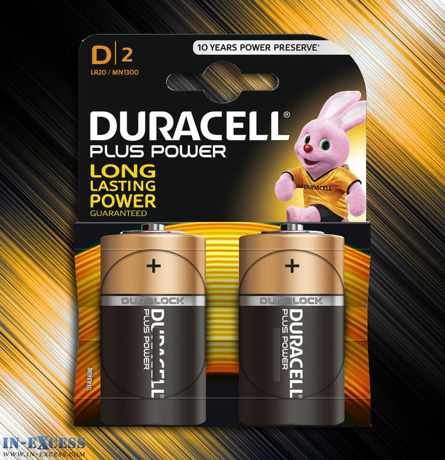 Duracell D Alkaline Batteries - Pack of 2