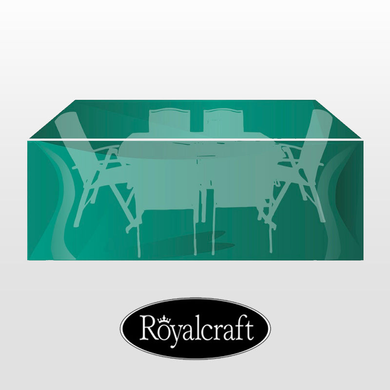 Royalcraft Extra Large Rectangular Set Cover - Heavy Duty Oxford Polyester - 237 x 200 x 104cm