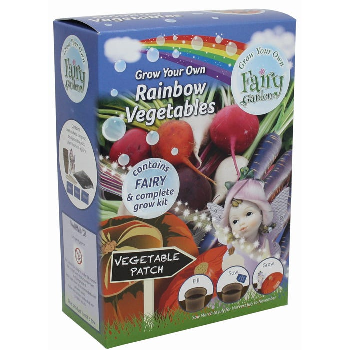 G Plants Grow Your Own Fairy Garden With Rainbow Vegetables