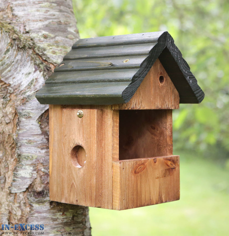 Tom Chambers PRB16 Multi Nester Pitch Roofed Wooden Bird Nest Box