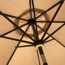 Siena 2.7m Crank and Tilt Parasol With LED Lights
