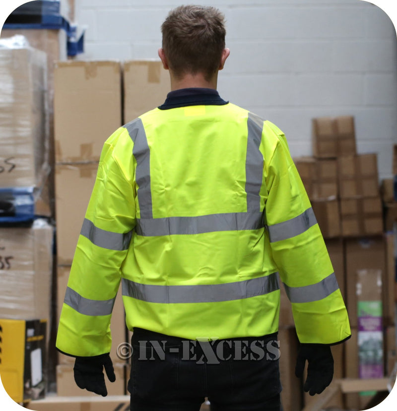 JSP Class 2 High Visibility Reflective Hook & Loop Vest Waist Coat - Yellow