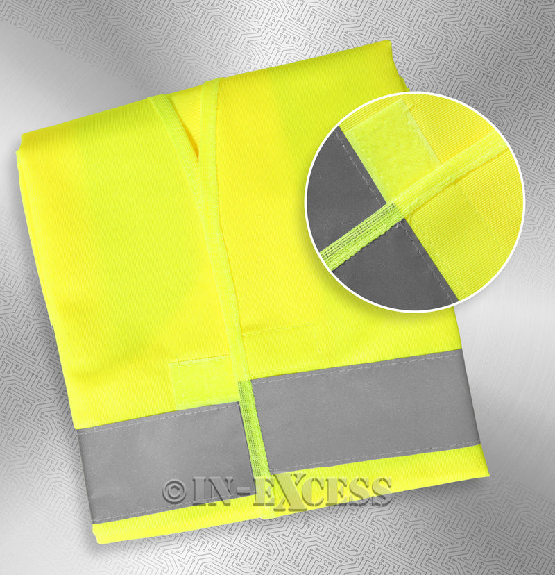 Photo of AVSL Mercury Trade Yellow High Visibility Vest EXTRA with detail LARGE