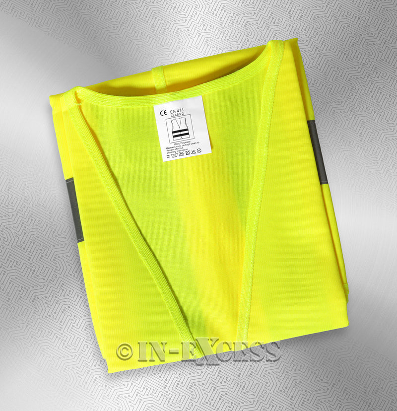 Photo of AVSL Mercury Trade Yellow High Visibility Vest LARGE Tag