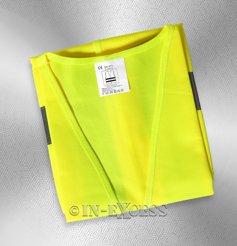 Photo of AVSL Mercury Trade Yellow High Visibility Vest MEDIUM with Label