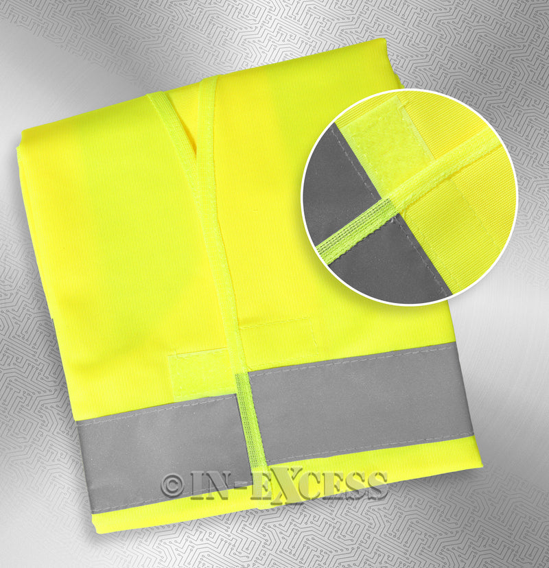 Photo of AVSL Mercury Trade Yellow High Visibility Vest MEDIUM With detail