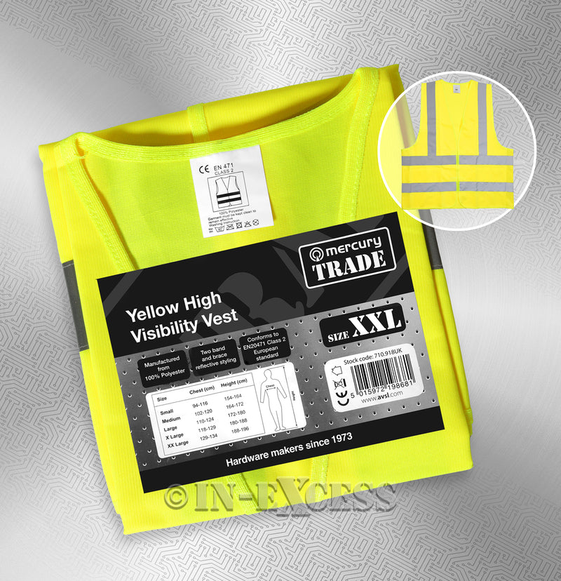 AVSL Mercury Trade Yellow High Visibility Vest XXL