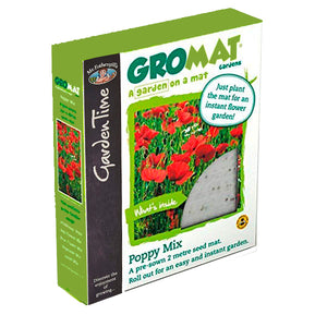Mr Fothergill's Garden Time GroMat Pre-Seeded Flower Mat - Poppy Mix