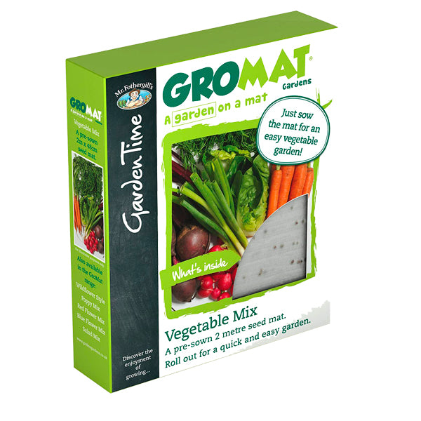 Mr Fothergill's Garden Time GroMat Pre-Seeded Vegetable Mat - Grow Your Own Veg