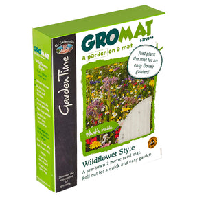 Mr Fothergill's Garden Time GroMat Pre-Seeded Flower Mat - Wildflower Mix