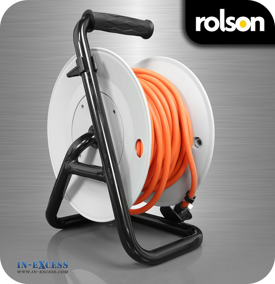 Rolson 15m Cable Reel 13A Thermal Cut-out - 4 Sockets
