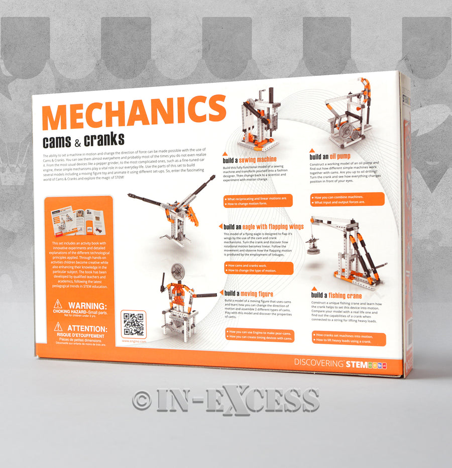 Photo of Engino STEM Mechanics Cams & Cranks Kids Build Play Set 8 Model Front