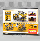 Photo of Engino Machinery Series JCB Tipper Truck 3 in 1 Build And Play Back