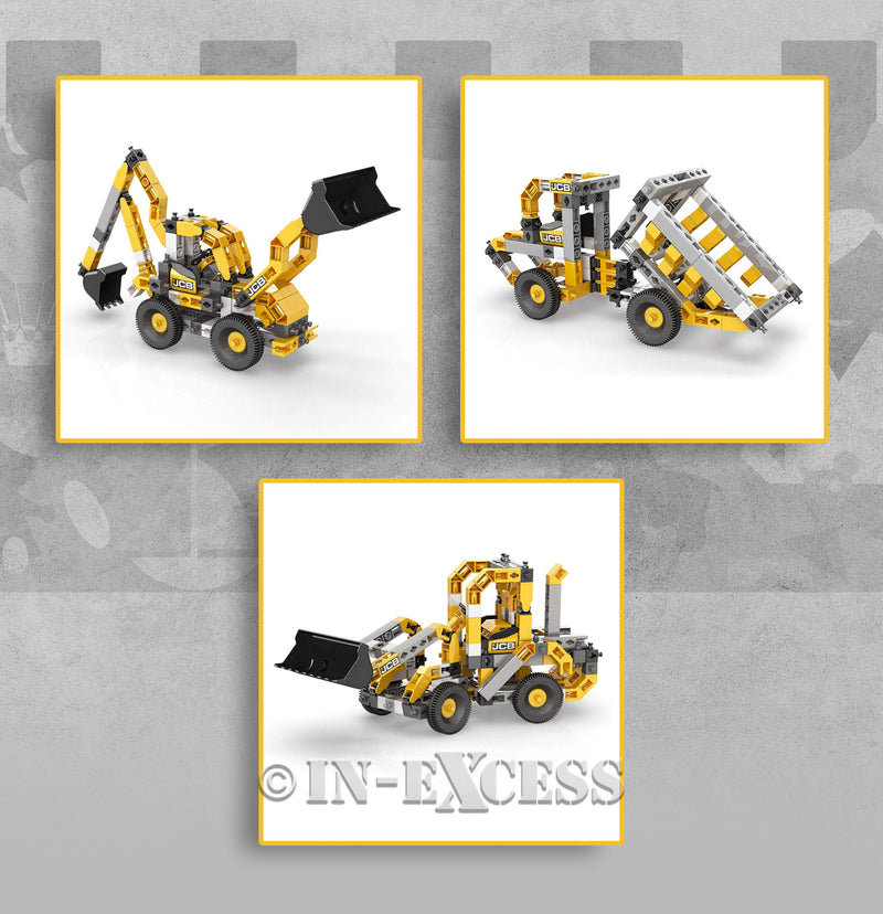 Photo of Engino Machinery Series JCB Wheeled Loader 3 in 1 Build And Play Detail